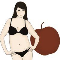 Тип фигуры Яблоко - как похудеть в животе, диета и меню