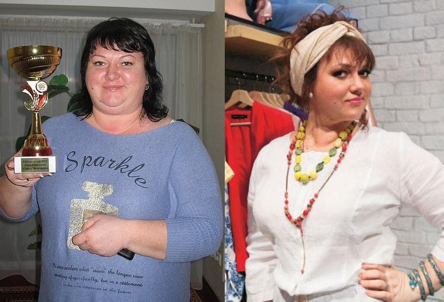 фото ольги картунковой до и после похудения
